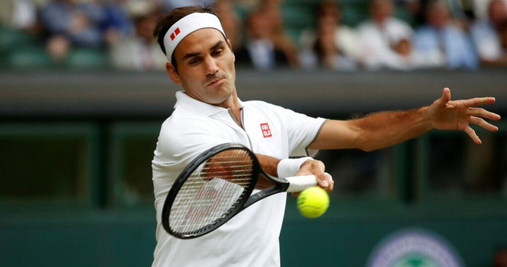 Roger Federer at Wimbledon in 2019