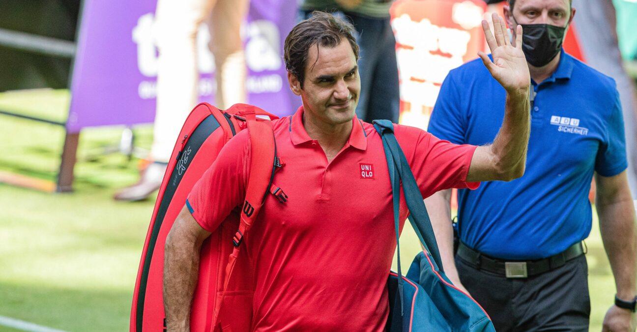 Roger Federer in Halle