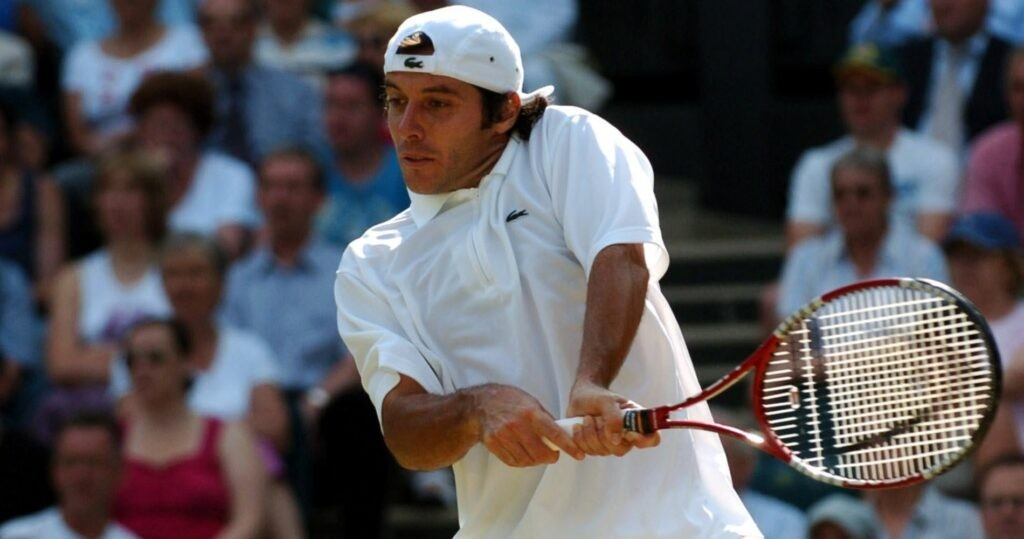 Sébastien Grosjean at Wimbledon in 2005