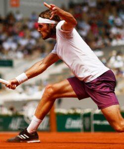 Stefanos Tsitsipas at Roland-Garros in 2021