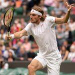 Stefanos Tsitsipas at Wimbledon in 2021
