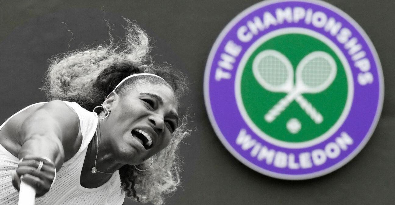 Serena Williams at Wimbledon in 2018