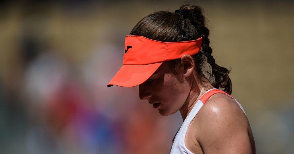 Tamara Zidansek at Roland-Garros in 2021