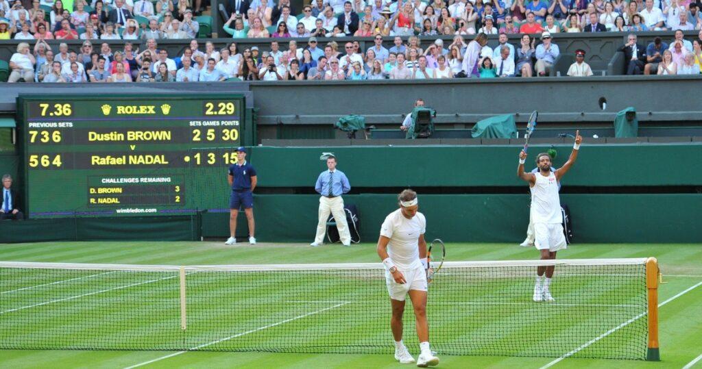 Rafael Nadal et Dustin Brown - Wimbledon 2015
