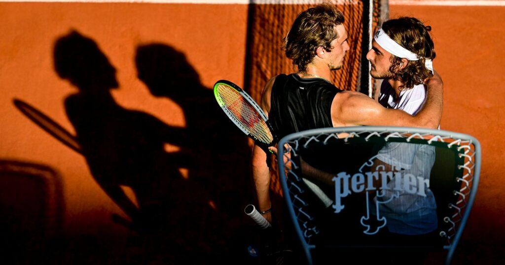 Alexander Zverev & Stefanos Tsitsipas at Roland-Garros in 2021