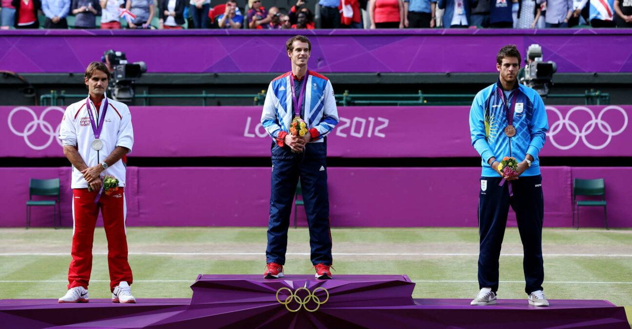 Federer, Murray et del Potro sur le podium olympique de 2012