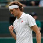 Alexander Zverev at Wimbledon in 2021