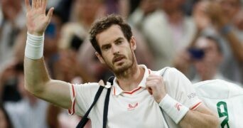 Andy Murray at Wimbledon in 2021