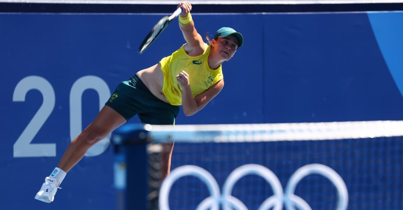 Ashleigh Barty at Tokyo Olympics in 2021