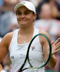 Ashleigh Barty at Wimbledon in 2021