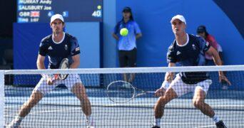 Ariake Tennis Park - Tokyo, Japan - Andy Murray of Britain and Joe Salisbury of Britain in action