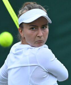 Barbora Krejcikova at Wimbledon in 2021