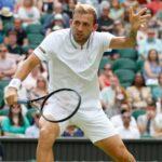 Dan Evans at Wimbledon in 2021