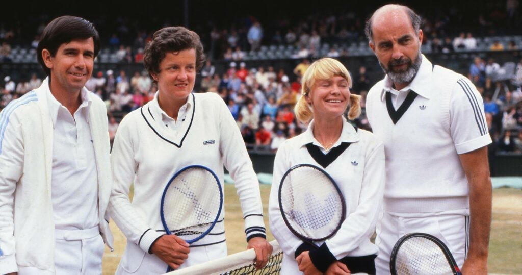 Frew McMillan & Betty Stove vs Bob Hewitt & Greer Stevens, Wimbledon mixed doubles final in 1977
