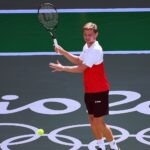 Goffin David of Belgium during tennis training session before the Rio 2016 Summer Olympic