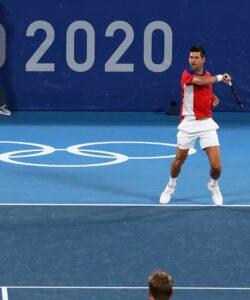 Novak Djokovic and Nina Stojanovic - JO 2020