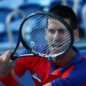Ariake Tennis Park - Tokyo, Japan - July 24, 2021. Novak Djokovic of Serbia in action