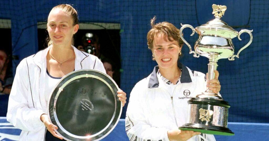 Steffi Graf & Martina Hingis at the Australian Open in 1997