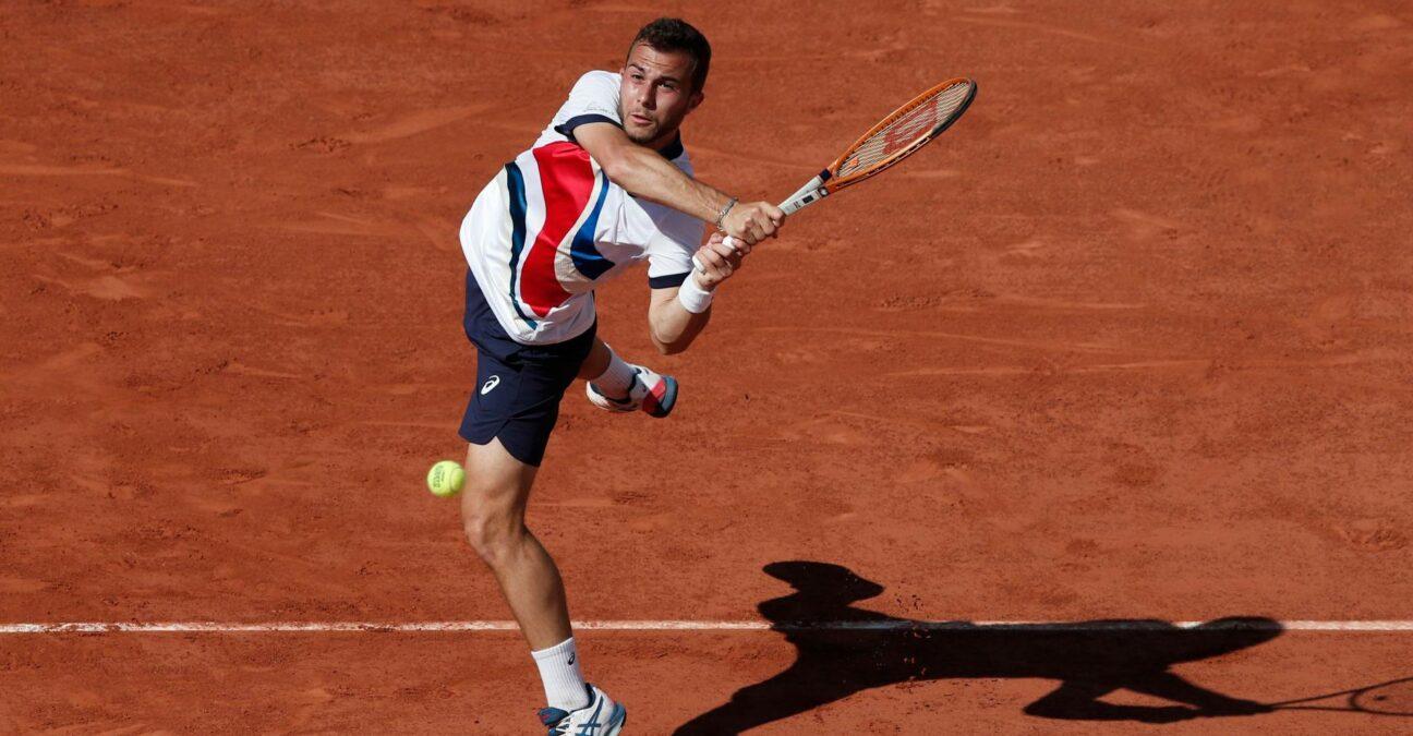 Hugo Gaston at Roland-Garros in 2021