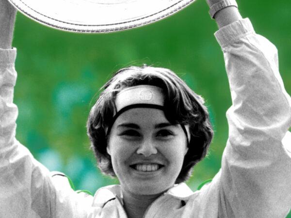 Martina Hingis at Wimbledon in 1997