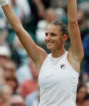 Karolina Pliskova at Wimbledon in 2021