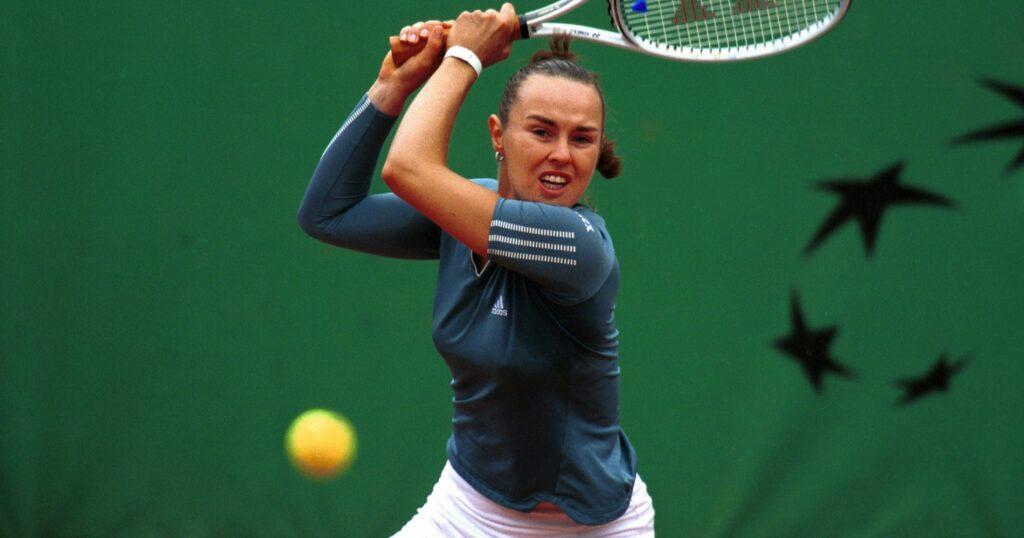 Martina Hingis at Roland-Garros in 2021