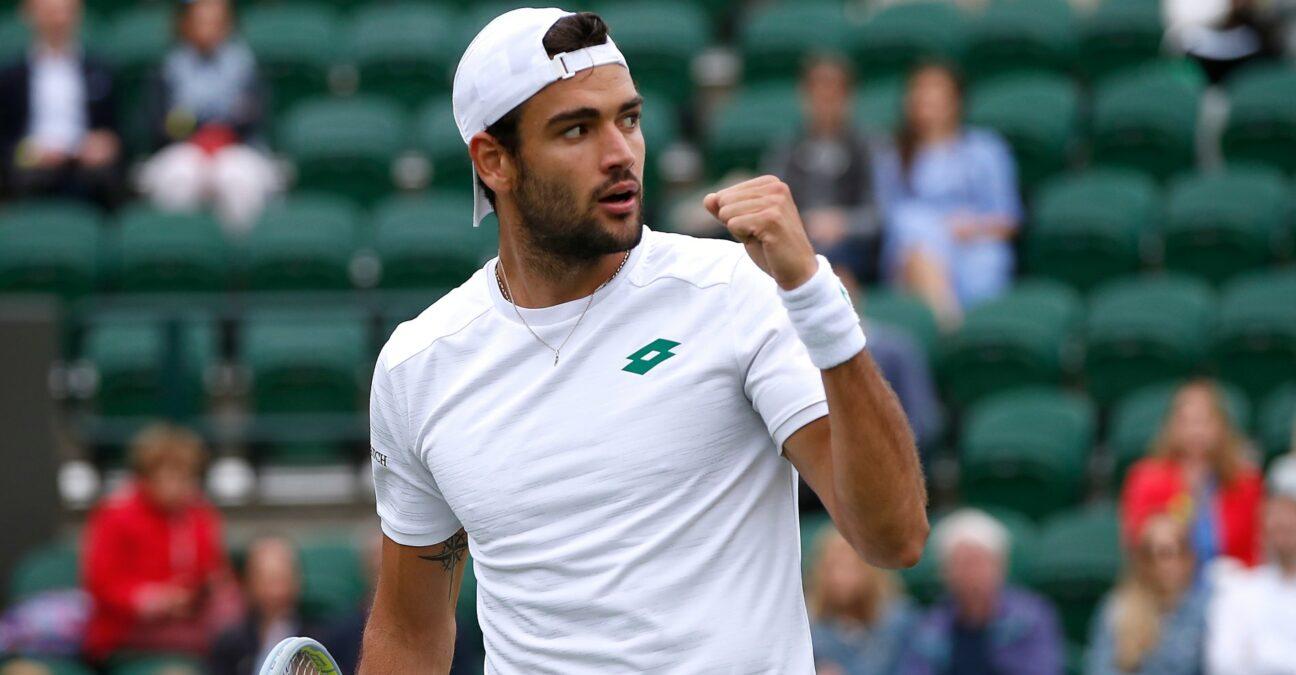 Matteo Berrettini at Wimbledon in 2021