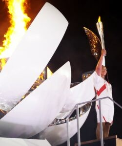 Naomi Osaka at Tokyo Olympics in 2021
