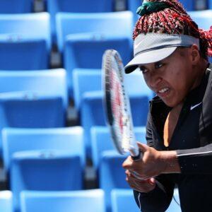 Ariake Tennis Park, Tokyo, Japan - July 23, 2021 - Naomi Osaka of Japan during training.