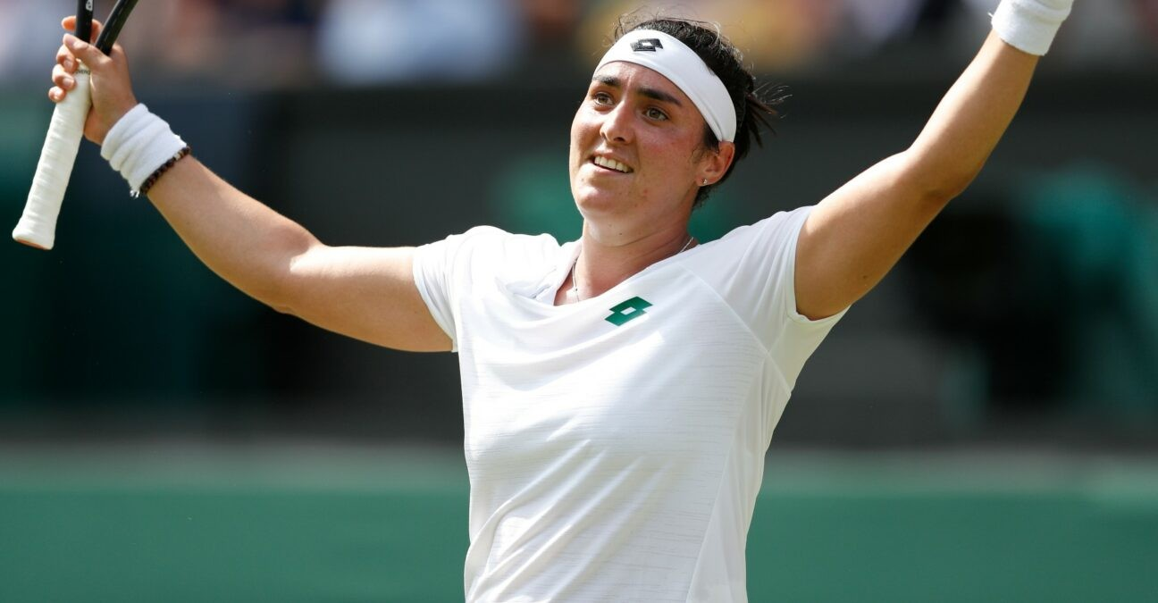 Ons Jabeur at Wimbledon in 2021