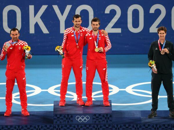 Podium olympique du double messieurs - JO 2020