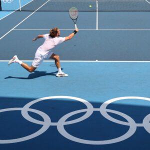 Stefanos Tsitsipas at Tokyo Olympics in 2021