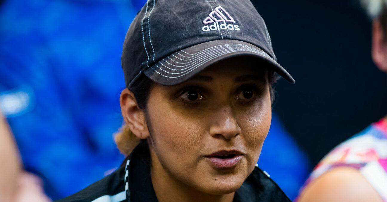 Sania Mirza of India talks to the media at the 2020 Australian Open Grand Slam tennis tournament