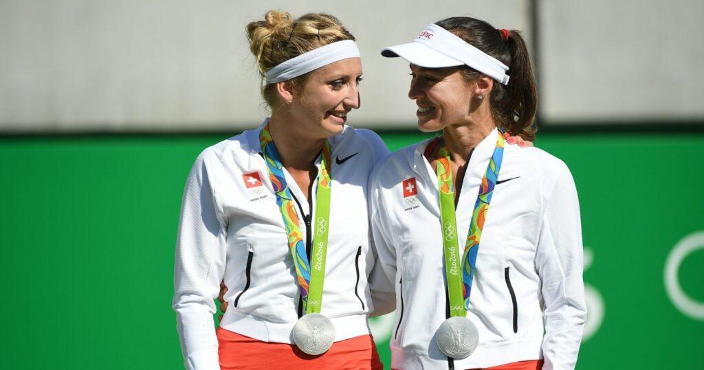 Timea Bacsinszky et Martina Hingis - JO 2016