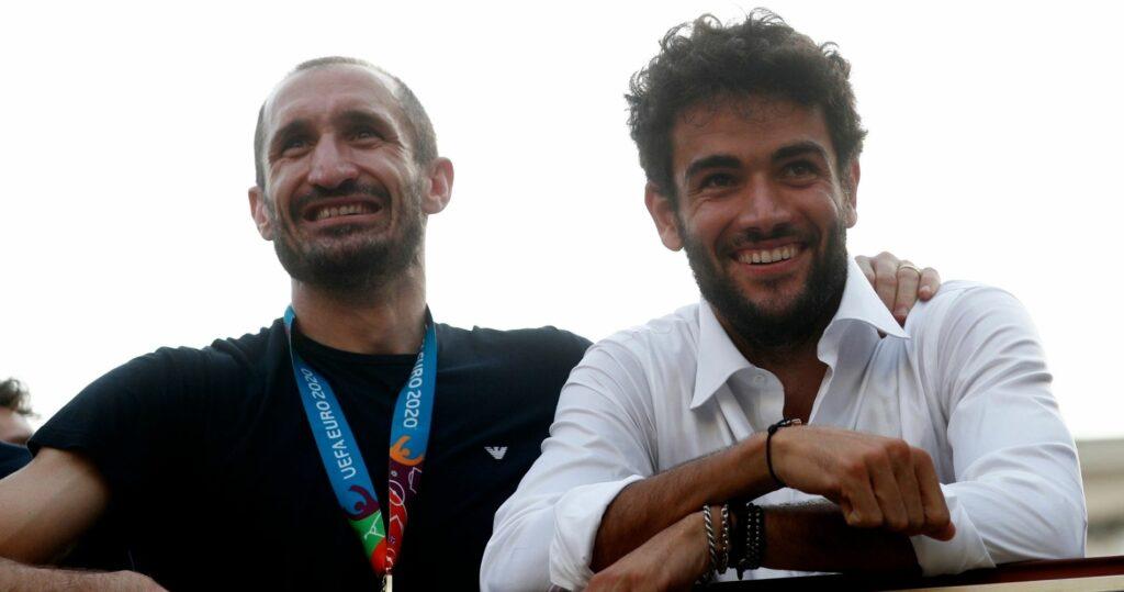 Giorgio Chiellini et Matteo Berrettini