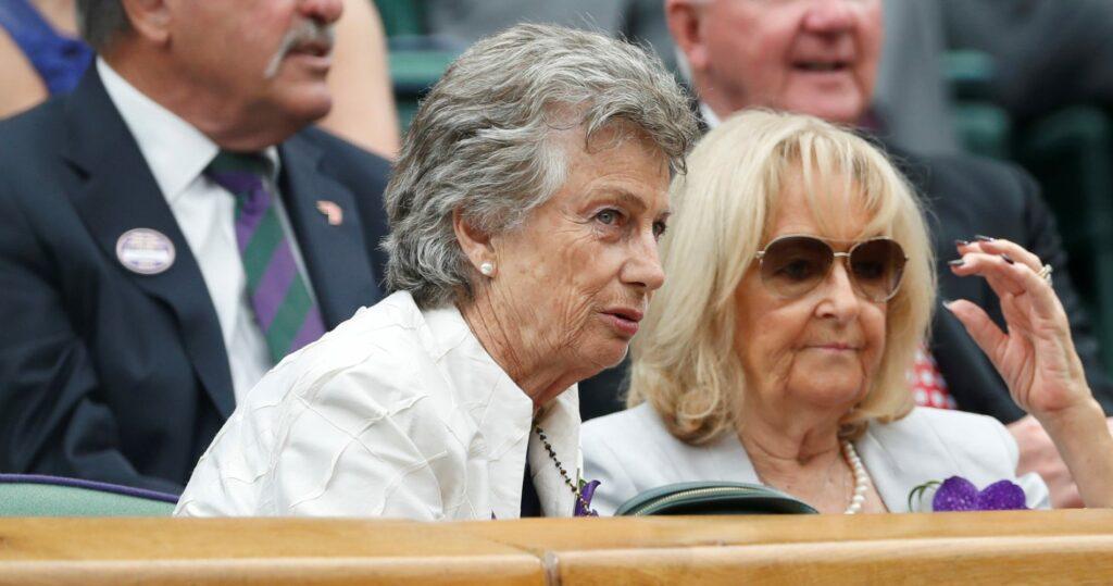 Virginia Wade at Wimbledon in 2017
