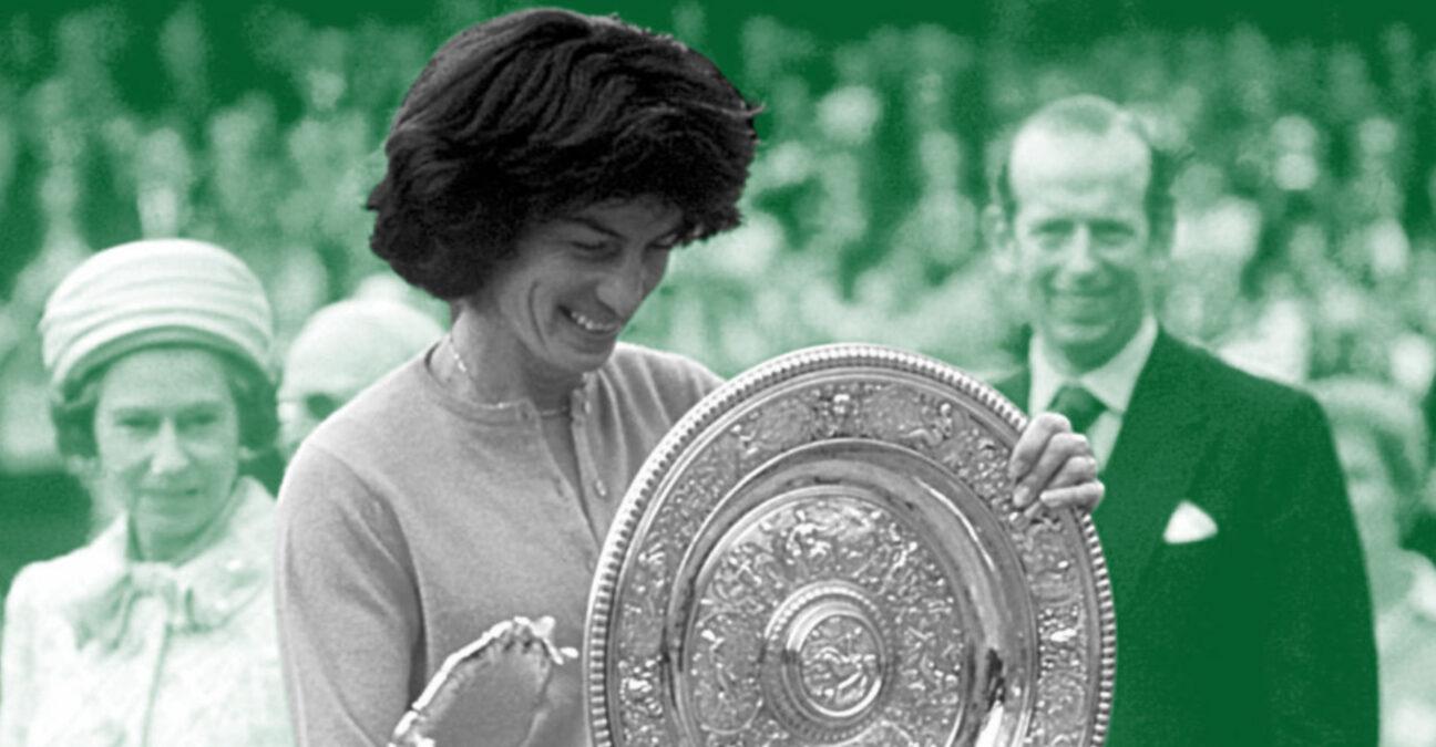 Virginia Wade at Wimbledon in 2021