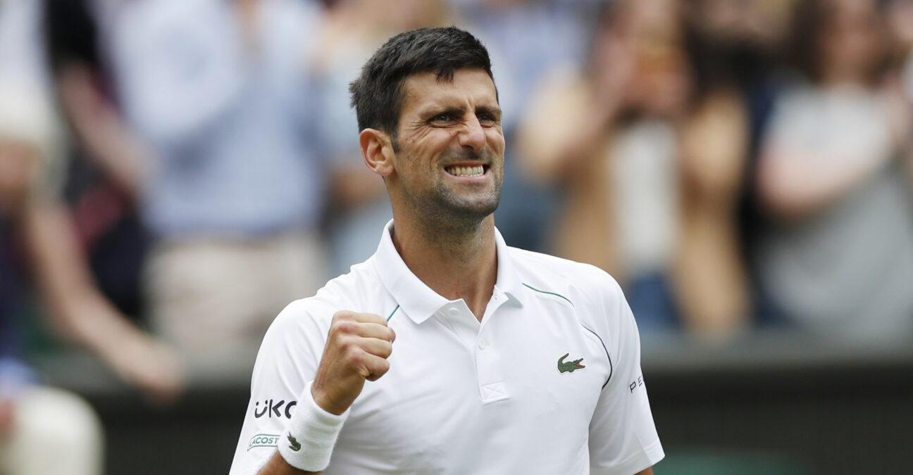 Novak Djokovic, en quarts de finale de Wimbledon 2021
