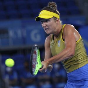 Ariake Tennis Park - Tokyo, Japan - July 31, 2021. Elina Svitolina of Ukraine in action