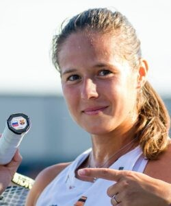 Daria Kasatkina of Russia during practice of the 2021 Western & Southern Open WTA 1000 tennis tournament
