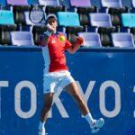 OLYMPICS : Tokyo 2020 Olympics - Novak Djokovic in action