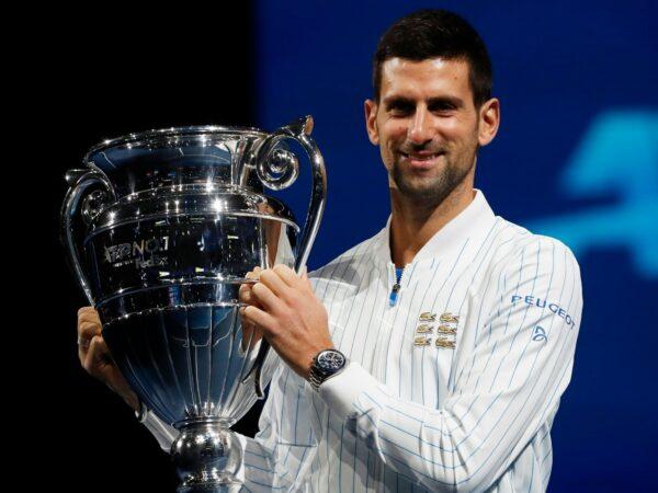 Novak Djokovic at the ATP Finals in 2021