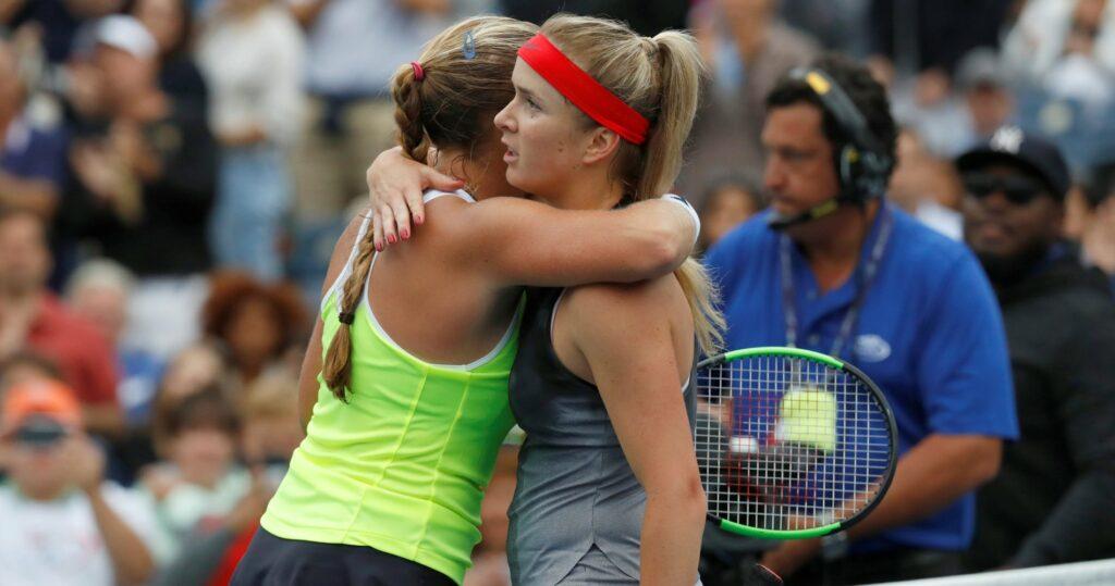 Shelby Rogers & Elina Svitolina at the 2021 US Open