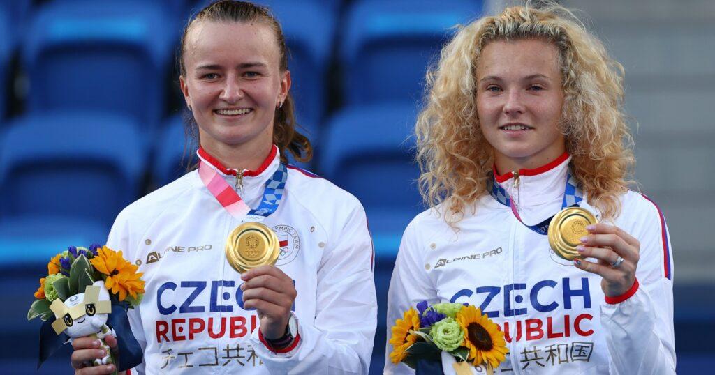 Krejcikova - Siniakova, Jeux olympiques de Tokyo 2020