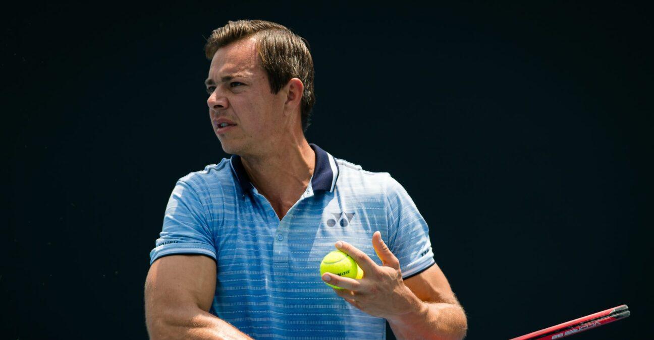 Sascha Bajin during practice at the 2020 Australian Open Grand Slam tennis tournament
