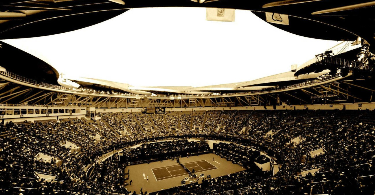 Shanghai Center Court in Black and White after 2021 cancellation