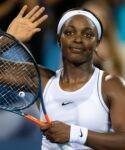 Sloane Stephens of the United States celebrates winning her second-round match at the 2019 Western & Southern Open WTA Premier Tennis 5 Tournament against Yulia Putintseva of Kazakhstan