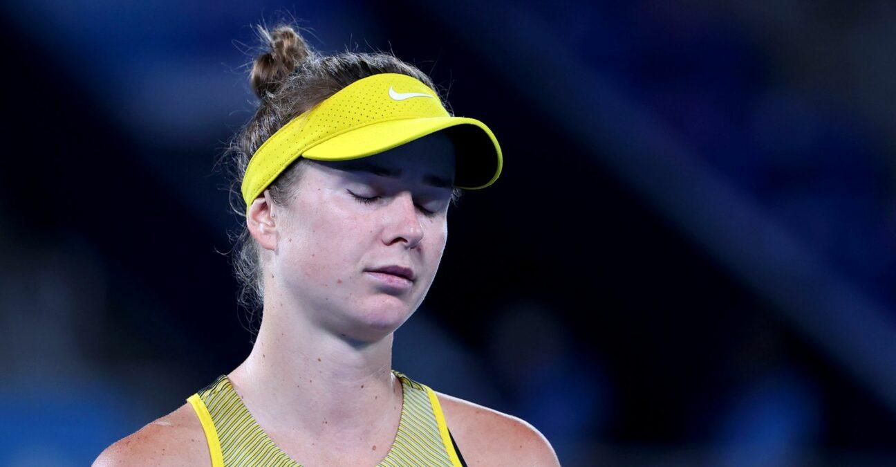 Tokyo 2020 Olympics - Tennis - Women's Singles - Bronze medal match - Ariake Tennis Park - Tokyo, Japan - July 31, 2021. Elina Svitolina of Ukraine reacts during her bronze medal match