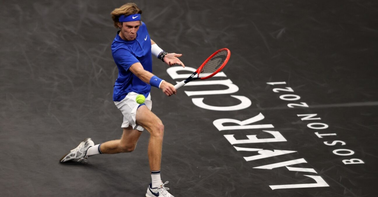 Andrey Rublev at the Laver Cup in Boston