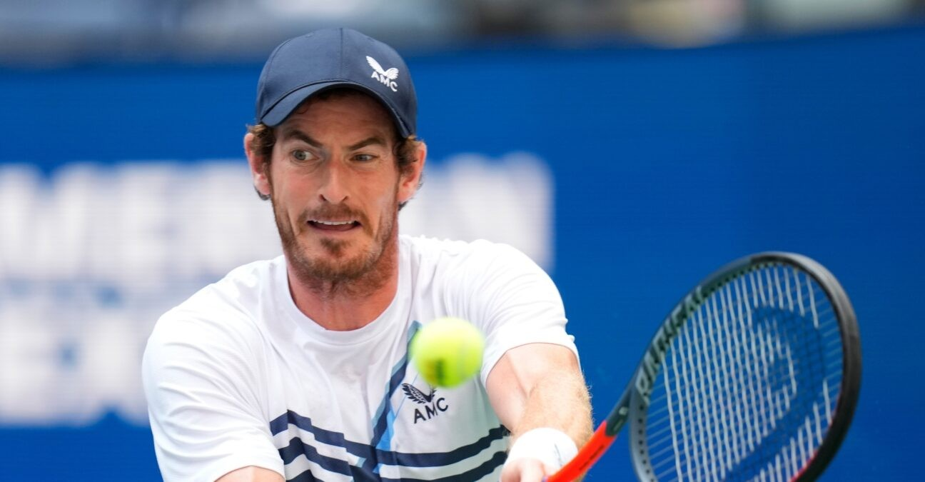 Andy Murray of Great Britain on day one of the 2021 U.S. Open tennis tournament at USTA Billie King National Tennis Center